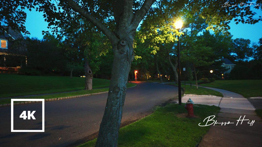 Walking Around a Small Town at Dawn