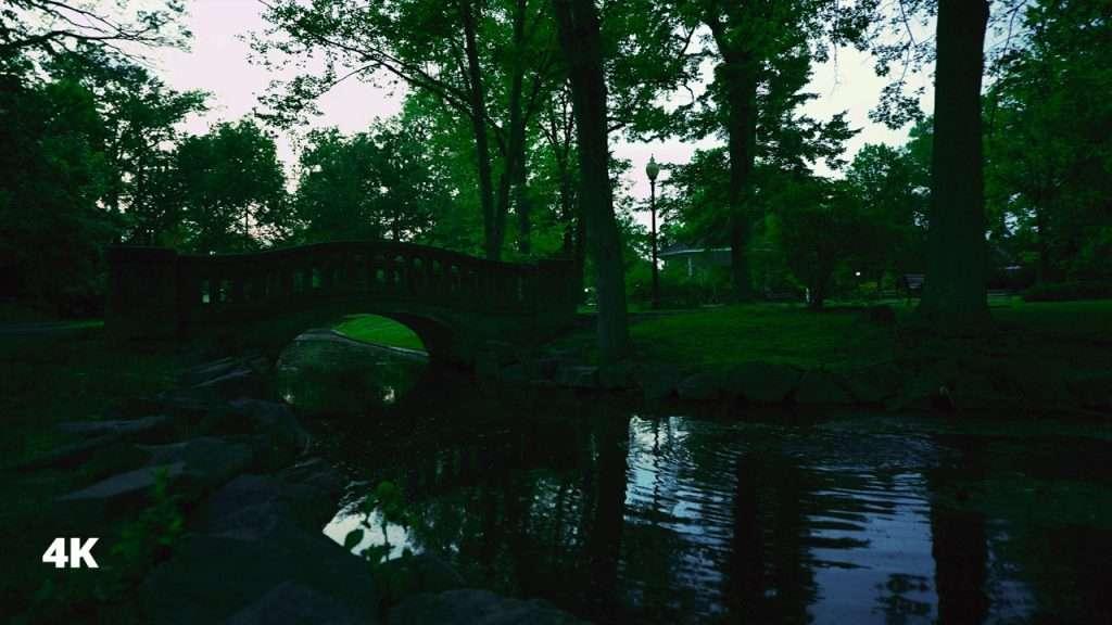 Walking in the Peaceful ParkㅣRelaxing Walking Sounds