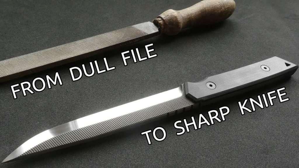 오래된 줄로 멋진 나이프 만들기