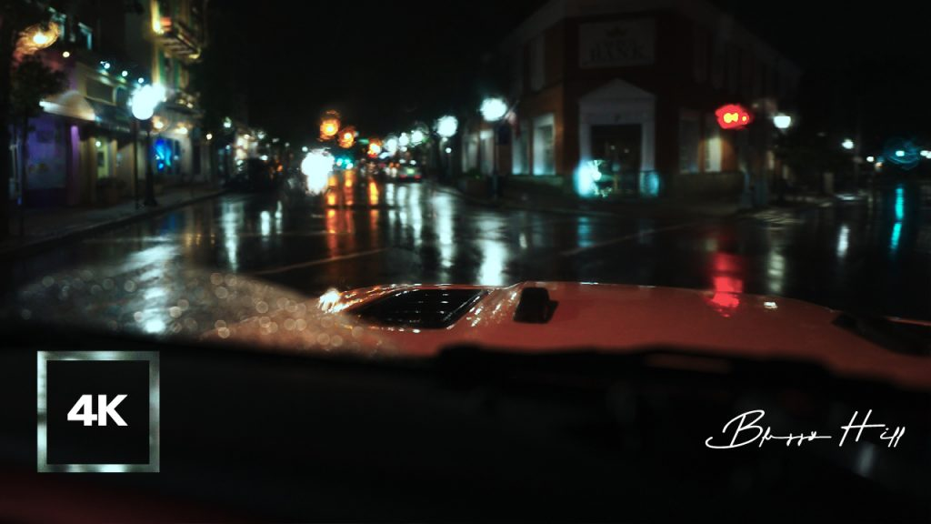 Cinematic Driving on a Rainy Night