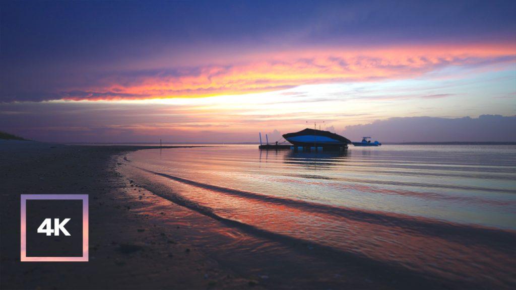 Serene Sunset on the BeachㅣBeautifully Colored Beach with Sunset
