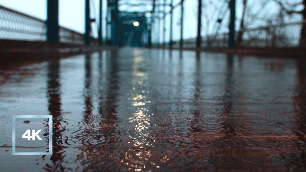 7 Hours of Rain Sounds on Rusty Iron Bridge