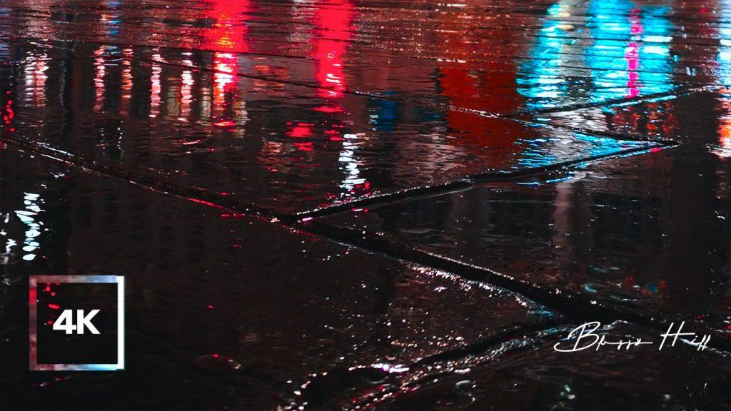 8 Hours of Rain Sound on City StreetㅣNight Rain, City Traffic Ambience
