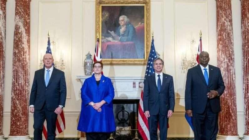 """미국-호주 장관급 2+2 회담 """"중국에 공동 대응할 것"""""""